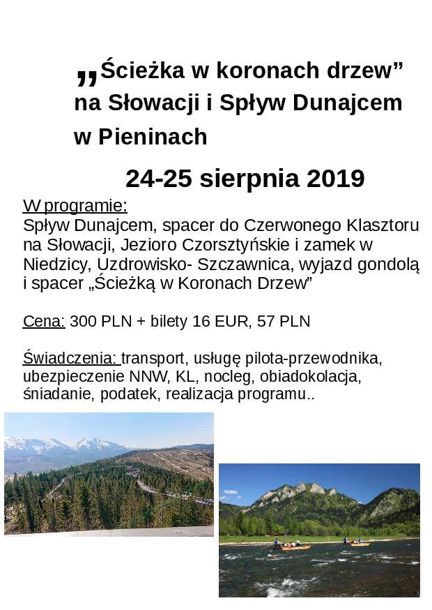 Słowacja, Pieniny